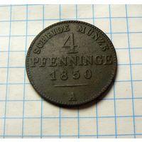 4 пфеннинга 1850 года.