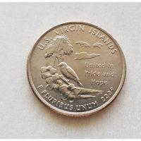 25 центов США 2009 г. штат  Виргинские острова  P