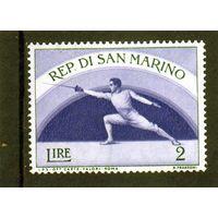 Сан-Марино.Ми-514.Спорт.Фехтование. 1954.