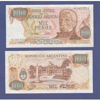 Банкнота Аргентина 1000 песо не датирована (1976-83) UNC ПРЕСС P304