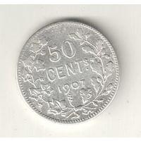 Бельгия 50 сантим 1907