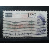 Багамы колония Англии 1966 Королева Елизавета 2 Надпечатка