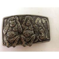 Пряжка 3 обезьяны