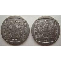ЮАР 5 рандов 1994, 1995 гг. Цена за 1 шт. (gb)