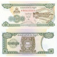 Камбоджа 200 риелей 1998 P42b(1) пресс  распродажа