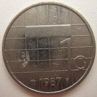 Нидерланды 1 гульден 1987 г. (d)