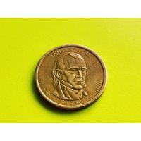 США. 1 доллар 2009 D - 11-ый Президент США - Джеймс Нокс Полк (1845-1849).