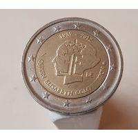 2 евро Бельгия 2012 75 лет музыкальному конкурсу имени королевы Елизаветы