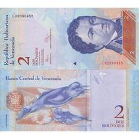 Венесуэла 2 боливара образца 2012 года UNC p88e