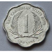 Восточные Карибы 1 цент, 2000 г.