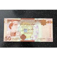 Ливия 50 динар 2008 UNC ПРЕСС Муаммар Каддафи