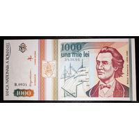 РАСПРОДАЖА С 1 РУБЛЯ!!! Румыния 1000 лей 1993 год UNC