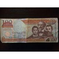 100 песо. Доминиканская республика