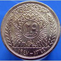 Сирия 25 пиастров 1947 серебро НЕЧАСТАЯ (2-16)