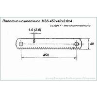 Полотно ножовочное HSS 450х40х2.0х4.