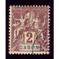 1 марка 1904 год Французский Габон 17