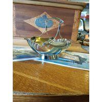 Лот с рубля - 162 Чаша конфетница с узором Клейма Серебрение без Минималки Большой Аукцион!