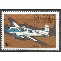 Гренада Гренадины. Американский двухмоторный самолёт. 1976г. Mi#187.