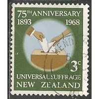 Новая Зеландия. 75 лет избирательному праву. 1968г. Mi#489.