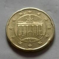20 евроцентов, Германия 2011 F, AU