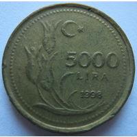 Турция 5000 лир 1998 г.