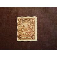 Барбадос 1925 г.Печать колонии.