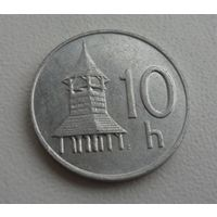 10 h Словакия 2002 г.в., KM# 17 10 HALIEROV, из коллекции