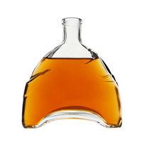 Бутылка из под коньяка пустая без пробки, подойдет для оформления интерьера