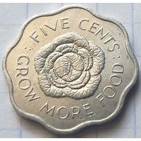 Сейшелы 5 центов, 1972 ФАО - Выращивайте больше еды        ( 6-9-3 )