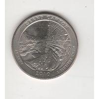 "25 центов (квотер) США ""Нацпарк Гранд-Каньон"" 2010 D Лот 4215"