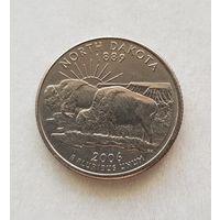 25 центов США 2006 г. штат  Северная Дакота P