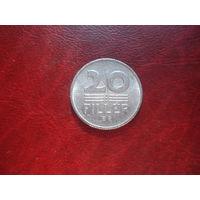 20 филлеров 1981 год Венгрия