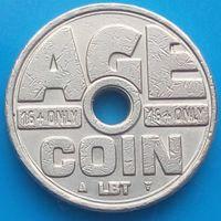Жетон для сигаретных аппаратов-AGE COIN-Голландия