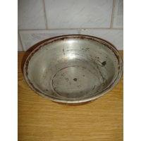 Тарелка миска металл походная или готовки в духовке СССР