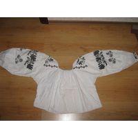 Конец XIX века./Старинная девичья льняная блуза-размер-42.Славянска я-100% выбеленный лён.