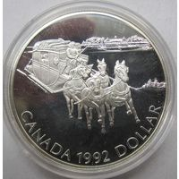 Канада, доллар, 1992, серебро, пруф