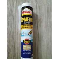 Момент герметик силиконовый санитарный, Прозрачный,280 мл.