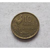Франция 10 франков 1951 Четвертая Республика