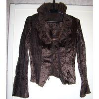 Костюм коричневый (двойка)+блузка-корсет,р.44-46