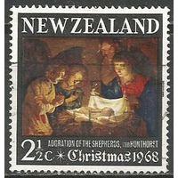 Новая Зеландия. Рождество. 1968г. Mi#491.