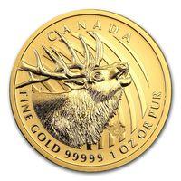 """Олень"", золотая монета Канады (2017), 1 унция"