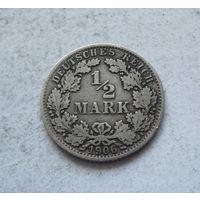 Германия 1/2 марки 1906 А (Берлин)