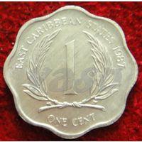 7812:  1 цент 1987 Восточные Карибы