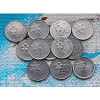 Малайзия 10 центов, AU.