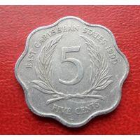 5 центов 1999 года Восточные Карибы - из коллекции