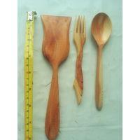 Набор деревянных ароматизированных столовых предметов