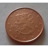 1 евроцент, Финляндия 2012 г., AU