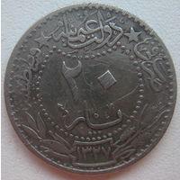Османская империя 20 пар 1909 г.