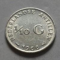 1/10 гульдена, Нидерландские Антильские острова, (Антиллы) 1966 г., серебро