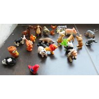 Лот игрушек, звери 24 штук